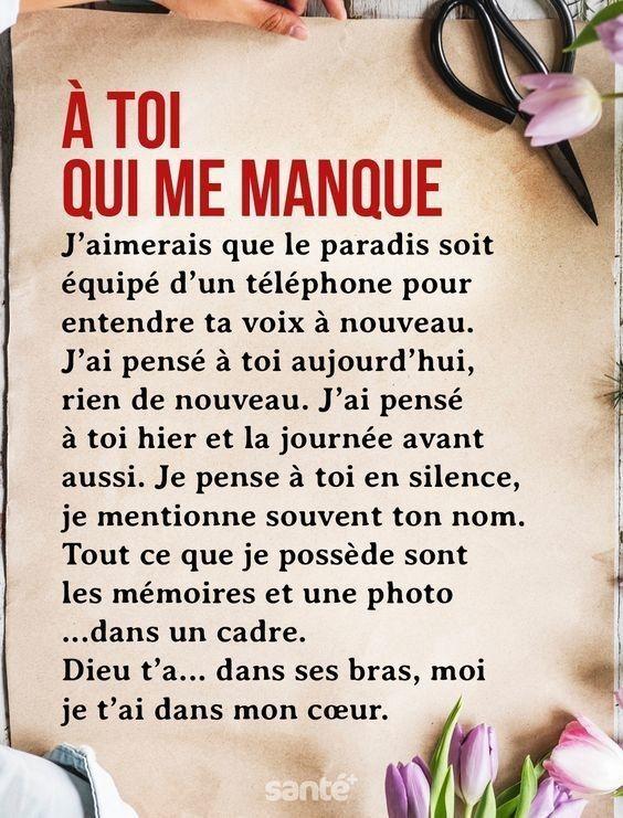 A Toi Qui Me Manque